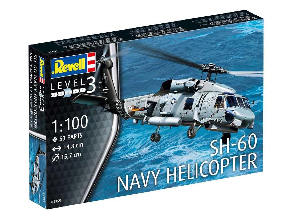 1/100 Plastikový model - vrtuľník 04955 - SH-60 Navy Helicopter