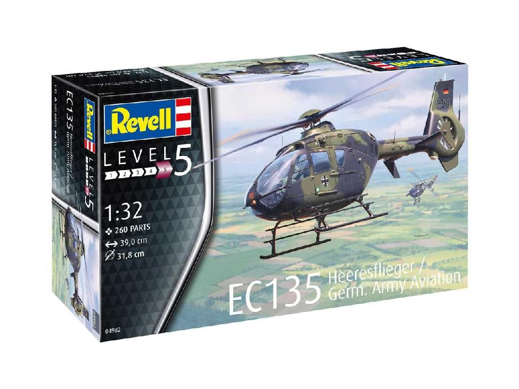 1/32 Plastikový model - vrtuľník 04982 - EC 135 Heeresflieger / German Army Aviation