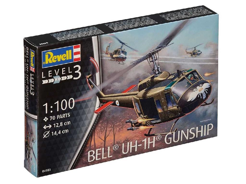 1/100 Plastikový model - vrtuľník 04983 - Bell UH-1H Gunship