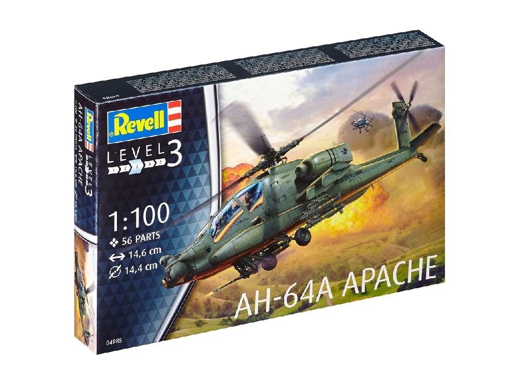 1/100 Plastikový model - vrtuľník 04985 - AH-64A Apache