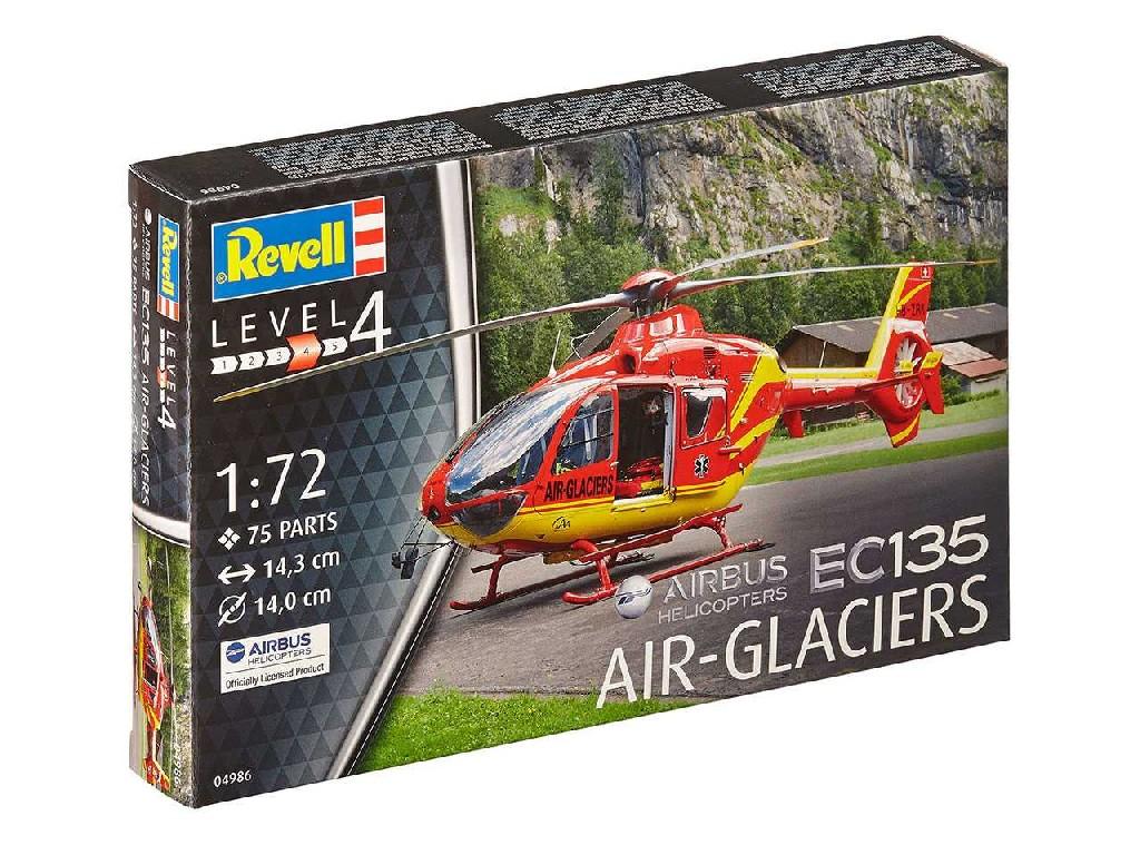 1/72 Plastikový model - vrtulník 04986 - EC 135 Air Glaciers