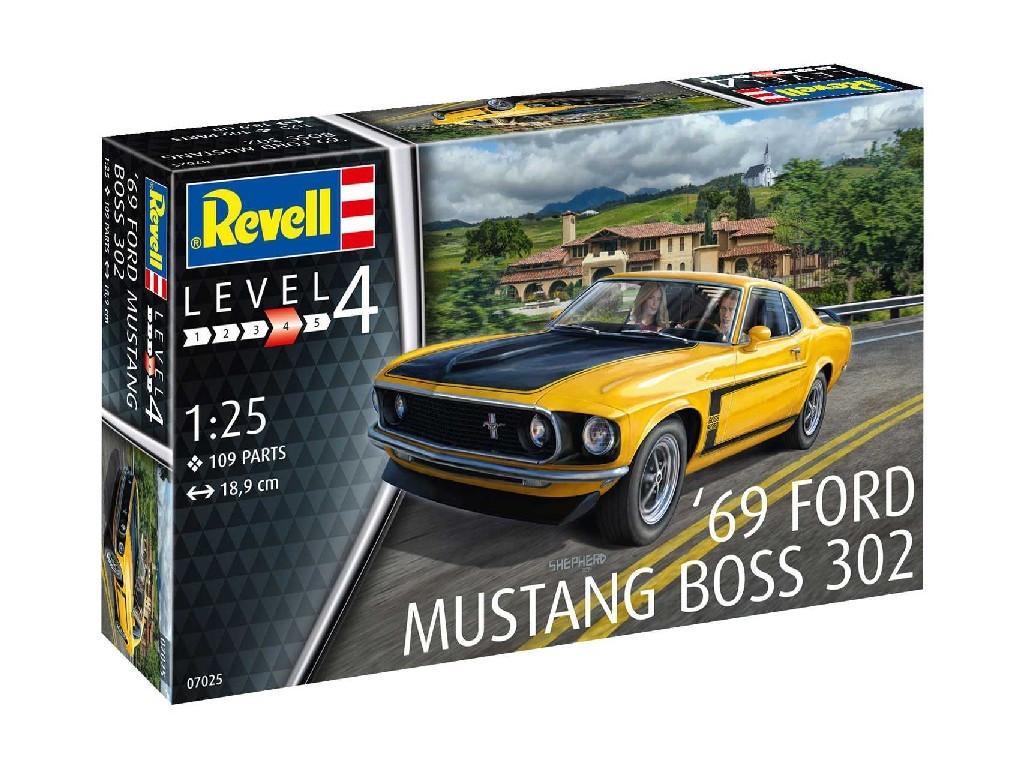 1/25 Plastikový model - auto 07025 - 1969 Boss 302 Mustang