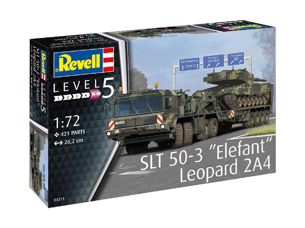 1/72 Plastikový model - military 03311 - SLT 50-3 Elefant + Leopard 2A4