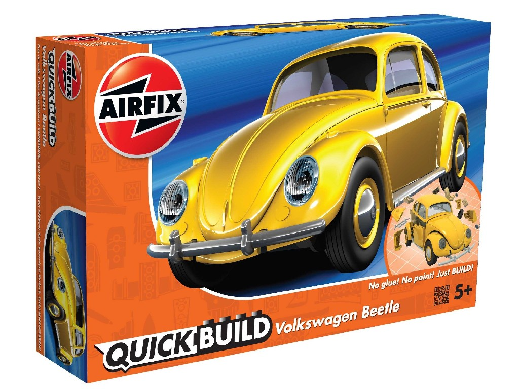 Quick Build auto J6023 - VW Beetle - žlutá