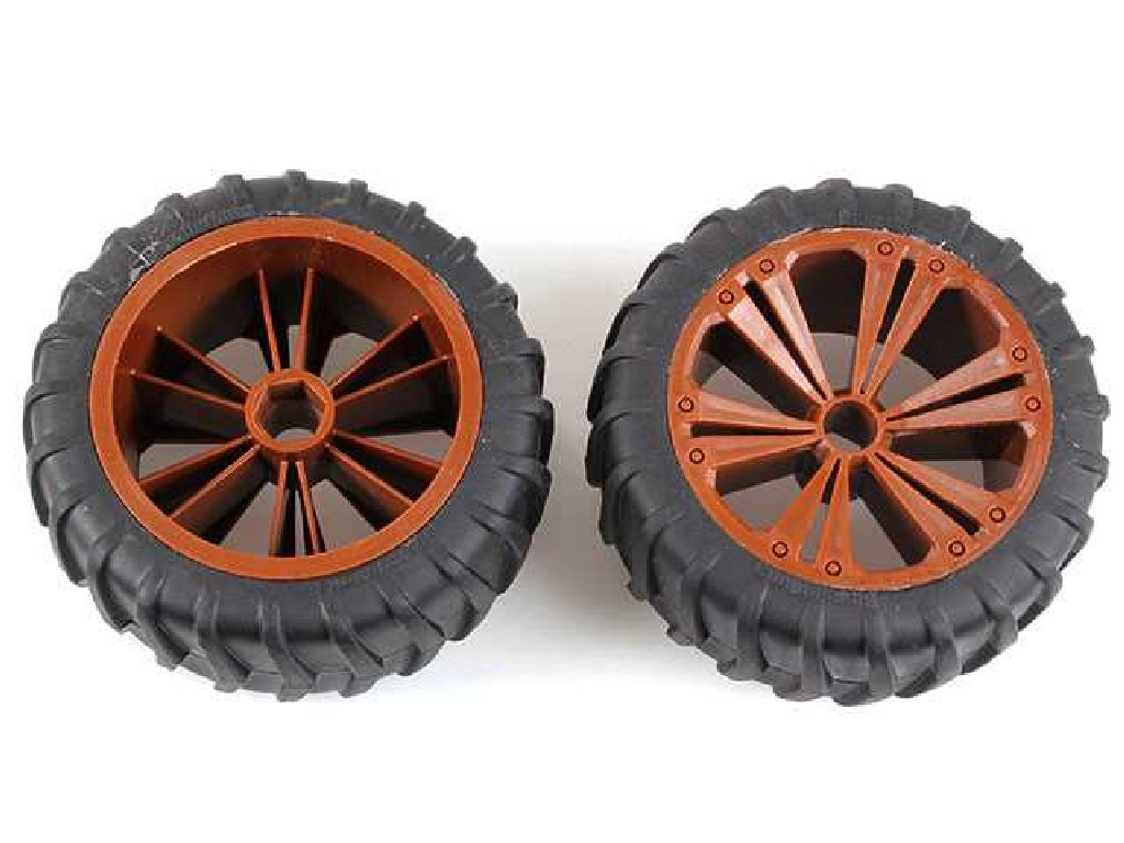 Revell - RevellUTIONS (47035) - Set 2x Wheel for Monster, bronze metallic