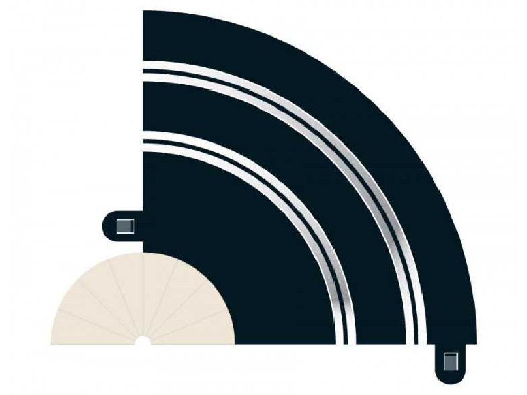 Rozšíření Trati Scalextric C8201 - Radius 1 Hairpin Curve 90 st. (2)