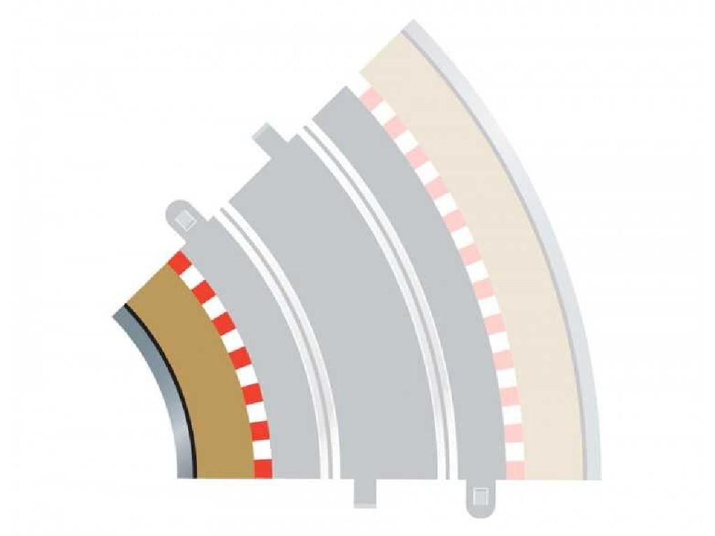 Rozšíření Trati Scalextric C8225 - Radius 2 Inner Border/Barrier 45 st.