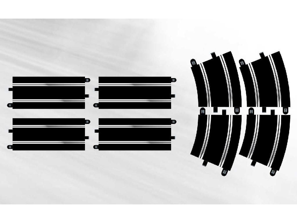 Rozšíření trati SCALEXTRIC C8556 - Track Extension Pack 7 - 4 X Straights & 4 X R4 Curves