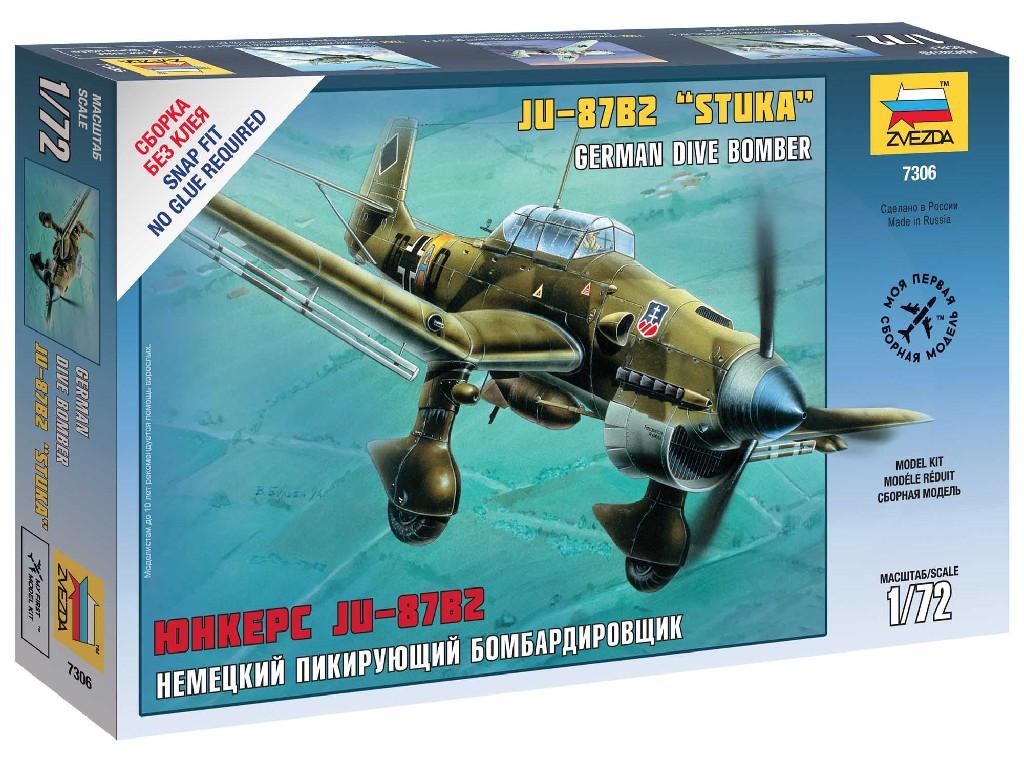 1/72 Snap Kit letadlo 7306 - Ju-87B2 Stuka