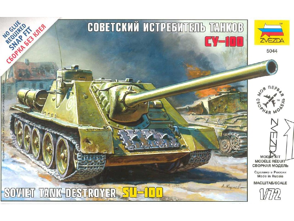 1/72 Snap Kit military 5044 - Soviet Tank Destroyer SU-100