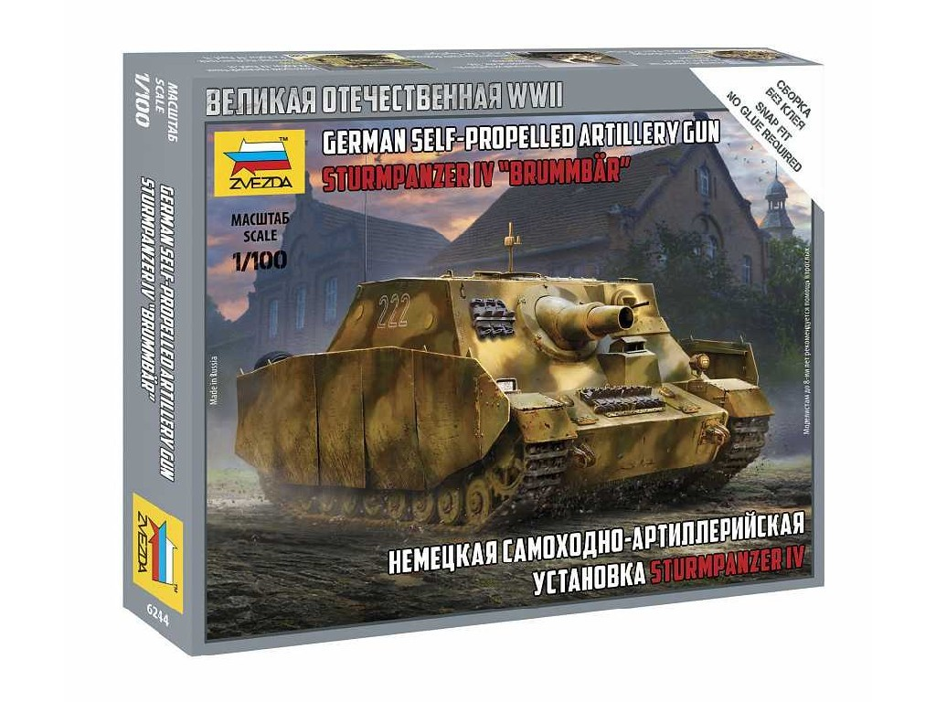 1/100 Snap Kit military 6244 - Sturmpanzer IV Brummbär