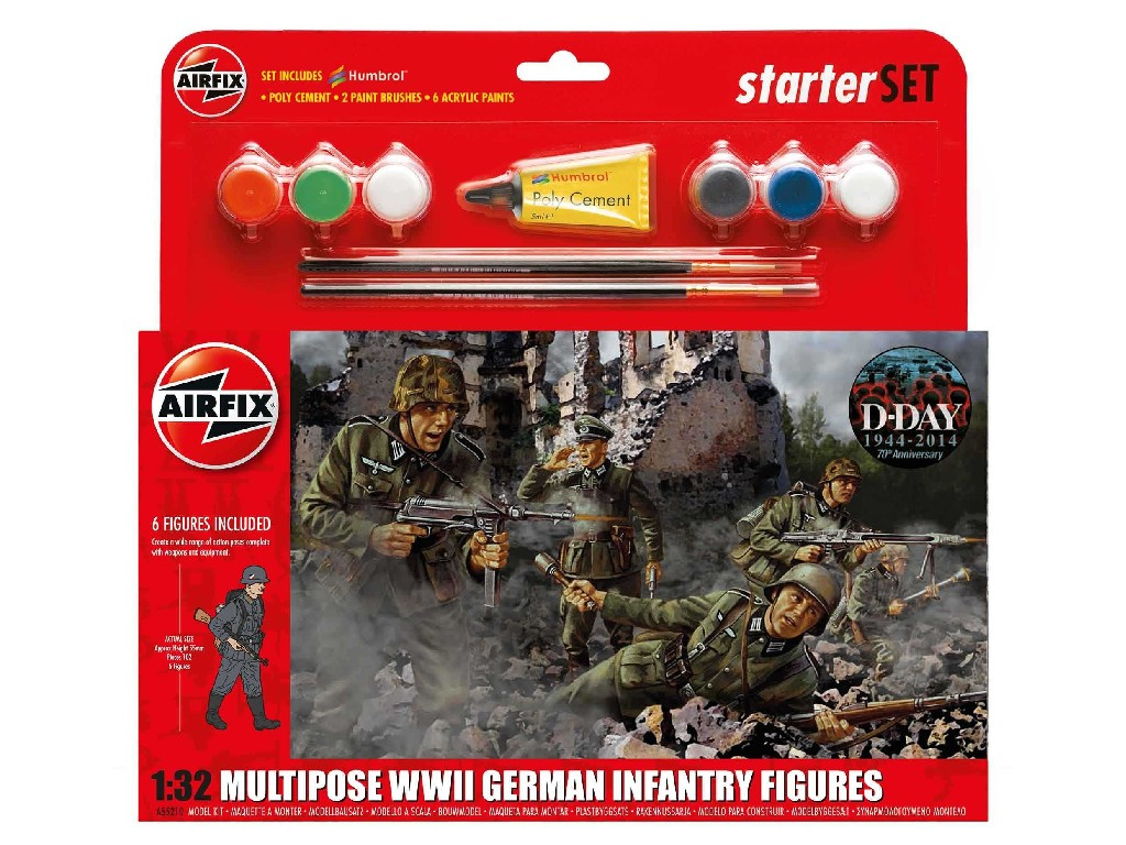1/32 Plastikový model Set - figurky A55210 - German Infantry Multi-Pose