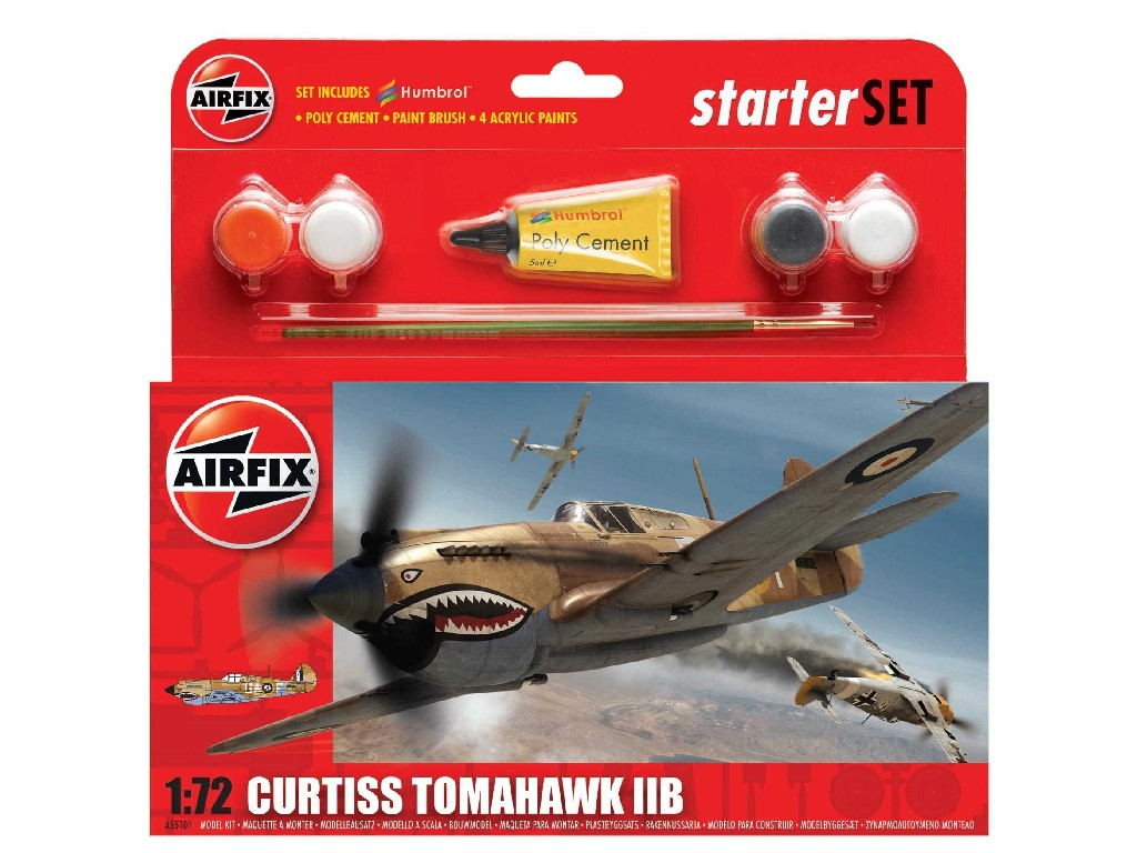 1/72 Plastikový model Set - letadlo A55101 - Curtiss Tomahawk IIB