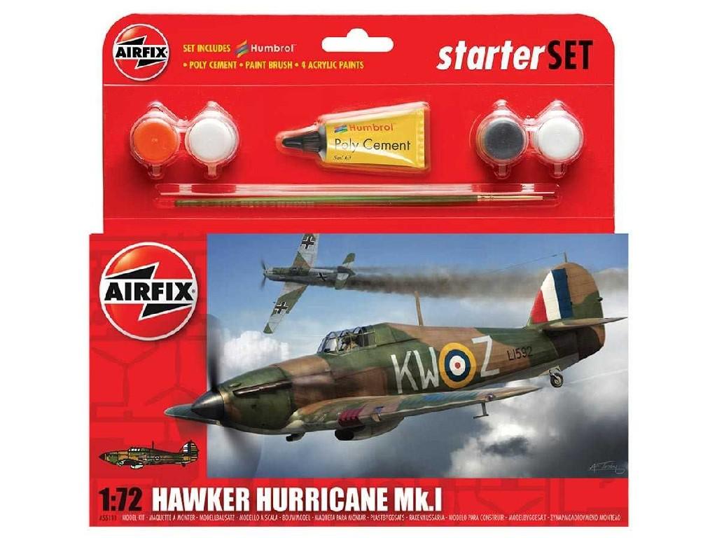 1/72 Plastikový model Set - letadlo A55111 - Hawker Hurricane Mk1