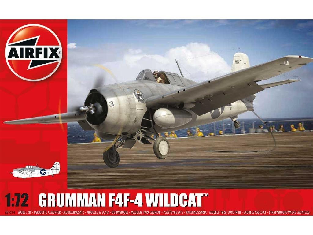 1/72 Plastikový model Set - letadlo A55214 - Grumman Wildcat F4F-4 - nová forma