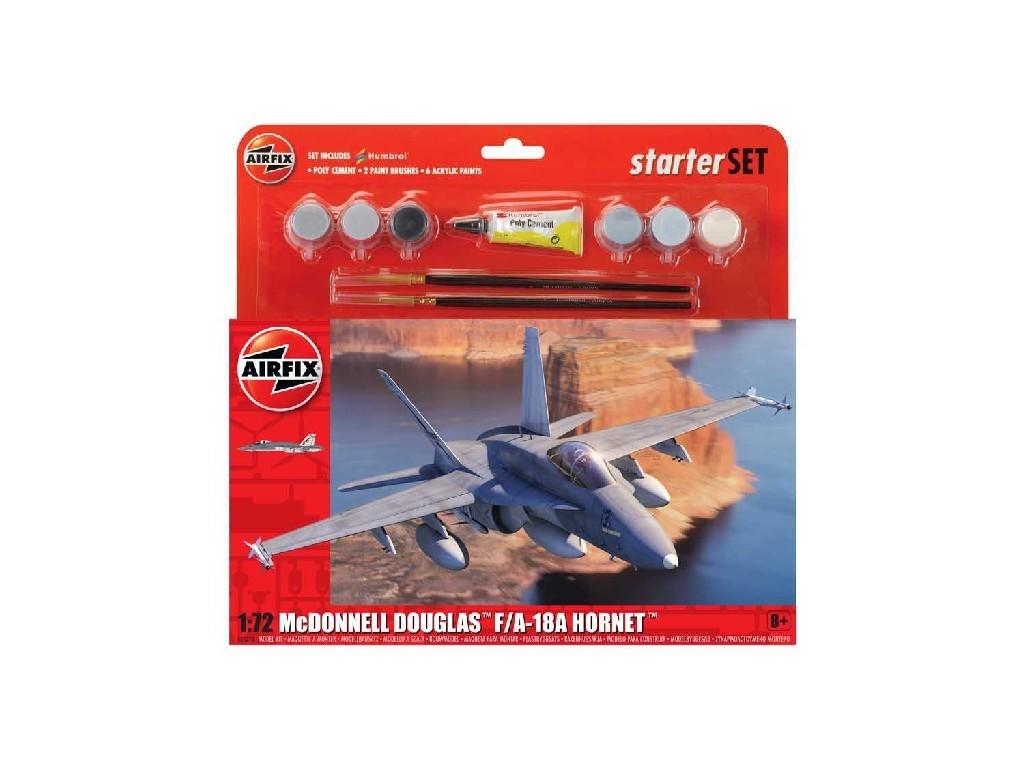 1/72 Plastikový model Set - letadlo A55313 - McDonnell Douglas F/A-18A Hornet