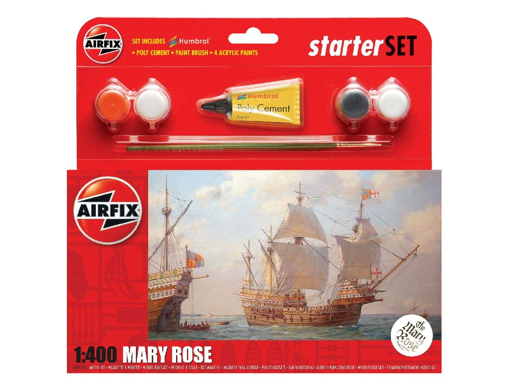 1/400 Plastikový model Set - loď A55114 - Mary Rose