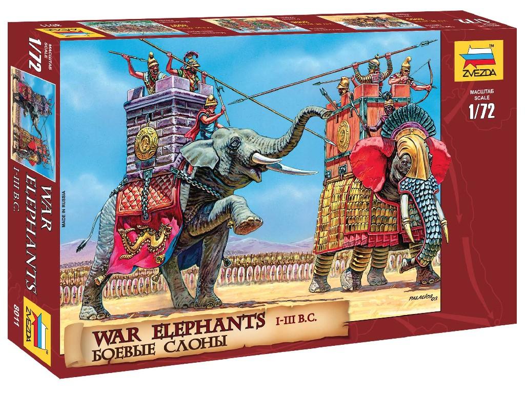 1/72 Wargames (AoB) figurky 8011 - War Elephants III-II B. C.