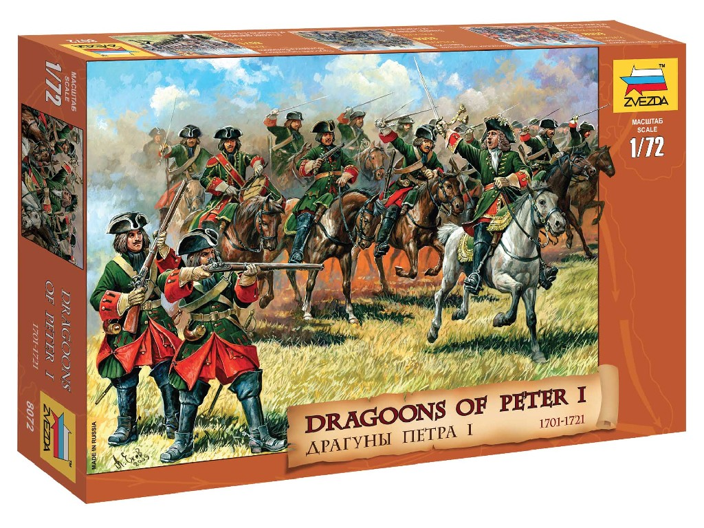 1/72 Wargames (AoB) figurky 8072 - Dragoons of Peter the Great