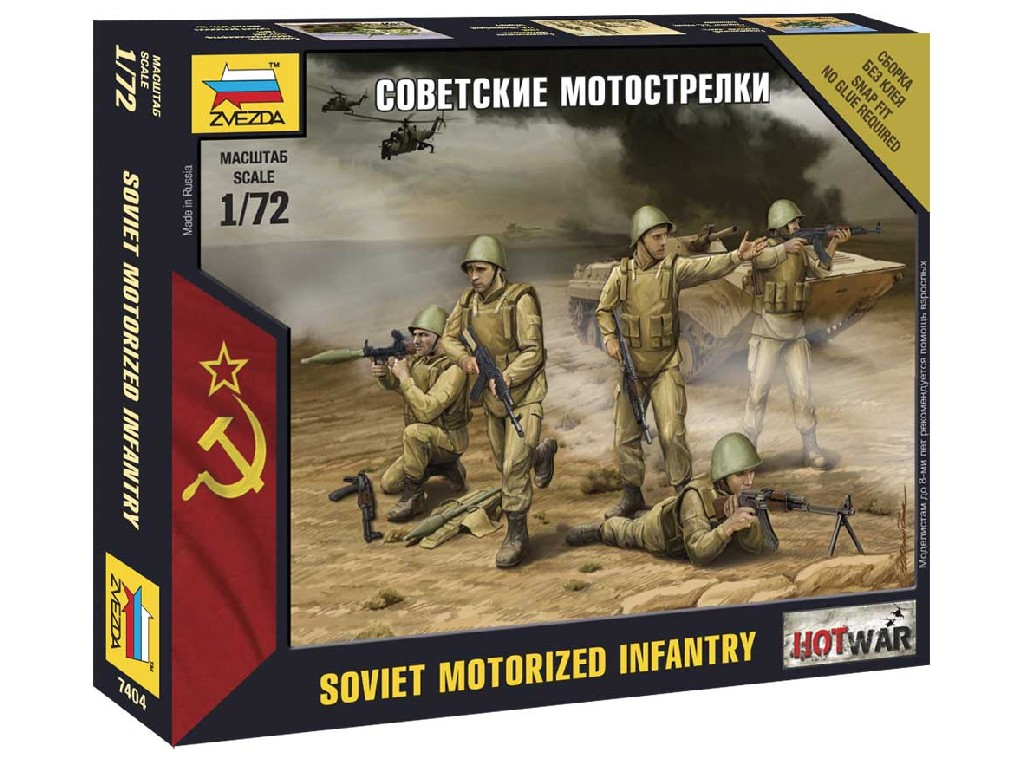 1/72 Wargames (HW) figurky 7404 - Soviet Infantry