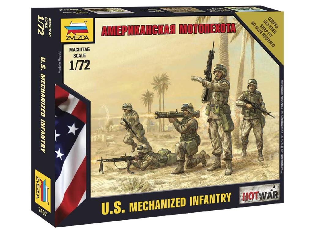 1/72 Wargames (HW) figurky 7407 - American Infantry