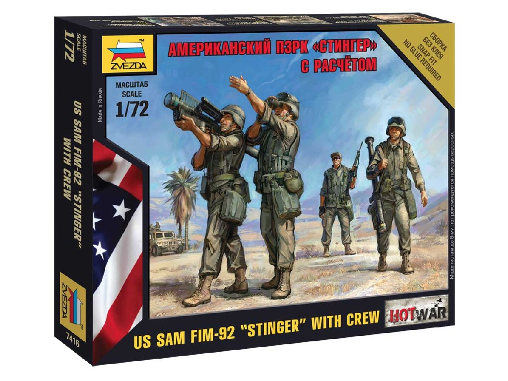 1/72 Wargames (HW) figurky 7416 - US SAM FIM-92 and Stingerand