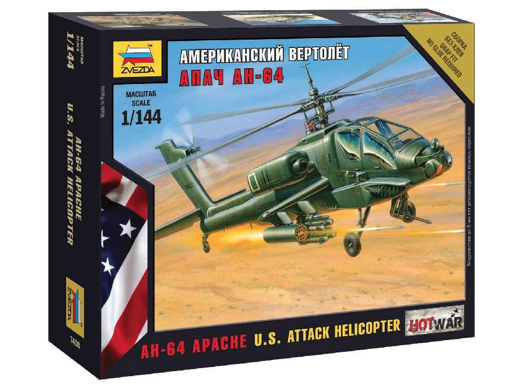 1/144 Wargames (HW) vrtulník 7408 - AH-64 Apache Helicopter