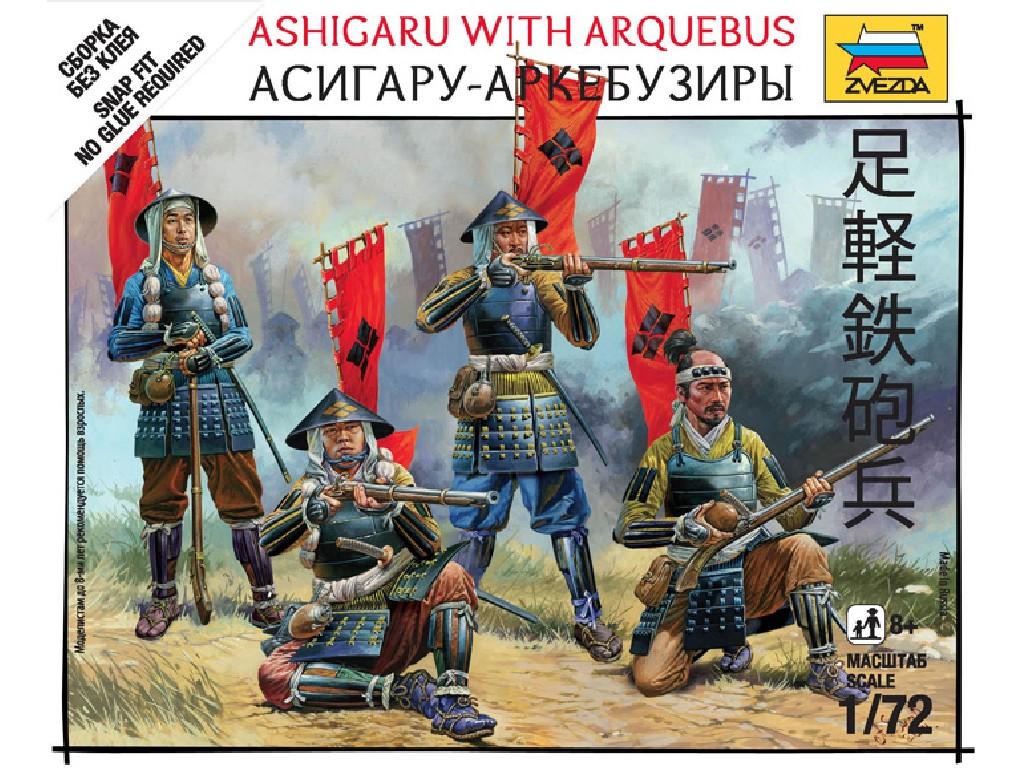 1/72 Wargames (SB) figurky 6402 - Ashigaru with arquebus