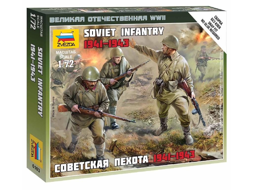 1/72 Wargames (WWII) figurky 6103 - Soviet Infantry 1941