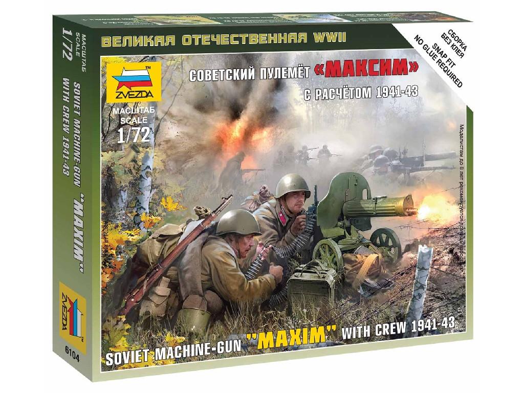 1/72 Wargames (WWII) figurky 6104 - Soviet Machinegun Crew 1941