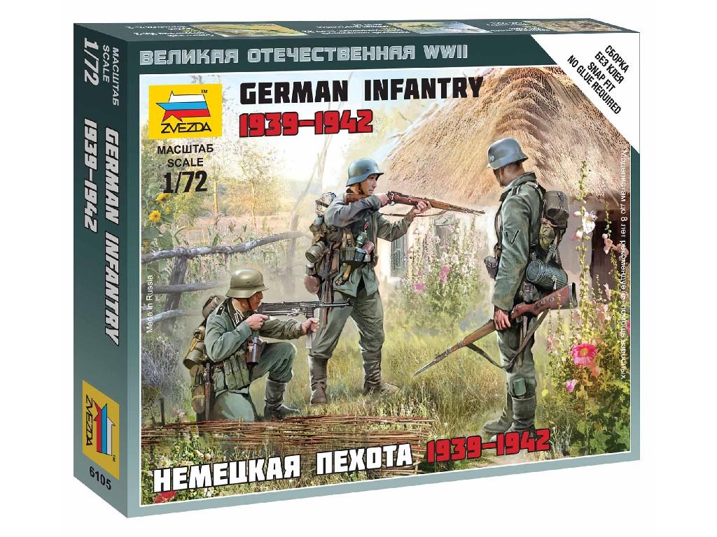 1/72 Wargames (WWII) figurky 6105 - German Infantry East Front 1941