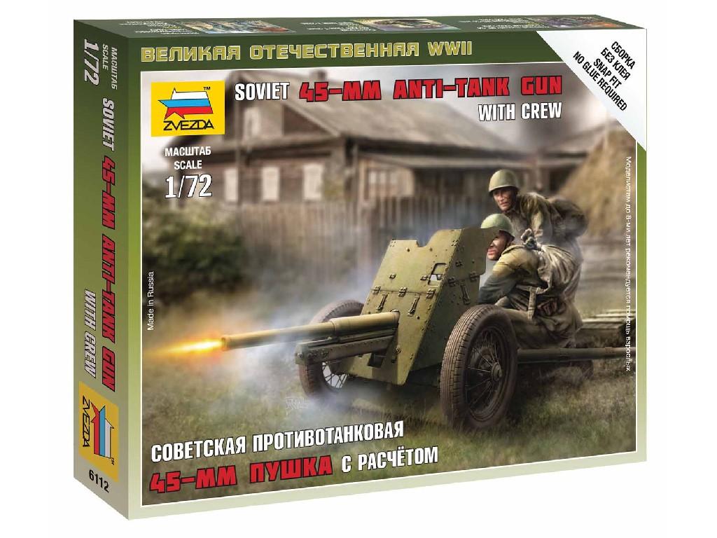 1/72 Wargames (WWII) figurky 6112 - Soviet Gun 45mm