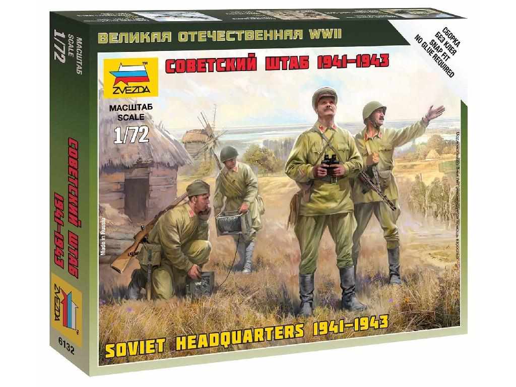 1/72 Wargames (WWII) figurky 6132 - Soviet HQ