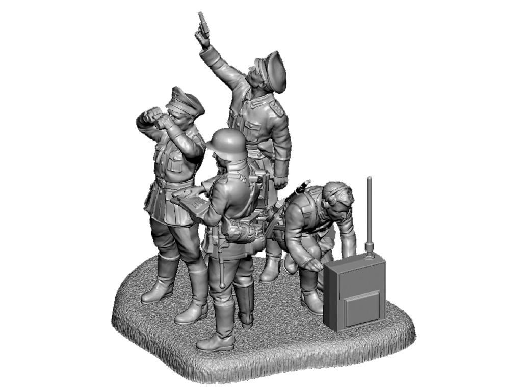 1/72 Wargames (WWII) figurky 6133 - German HQ