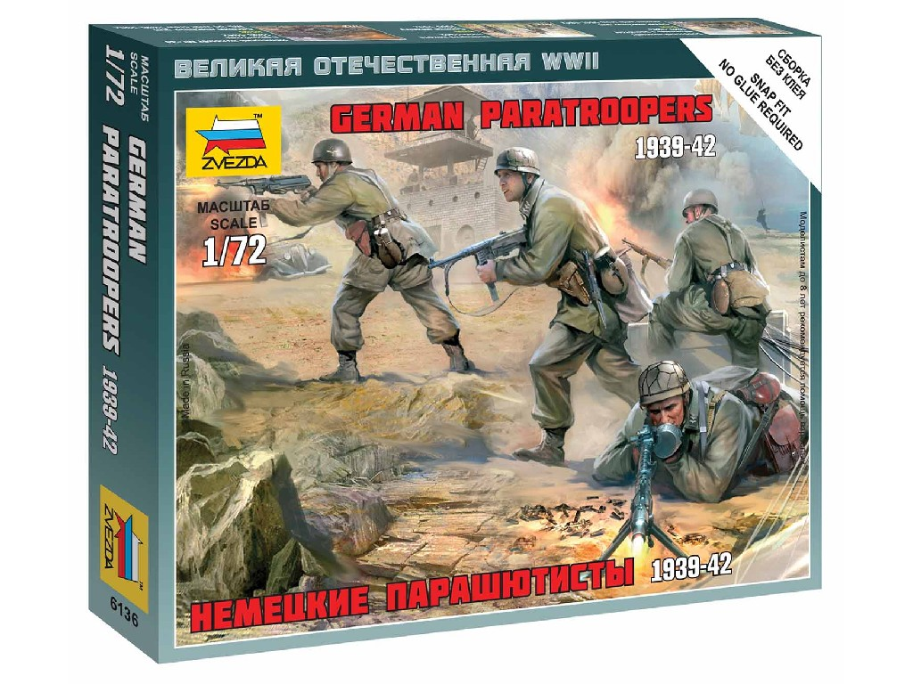 1/72 Wargames (WWII) figurky 6136 - German Paratroops
