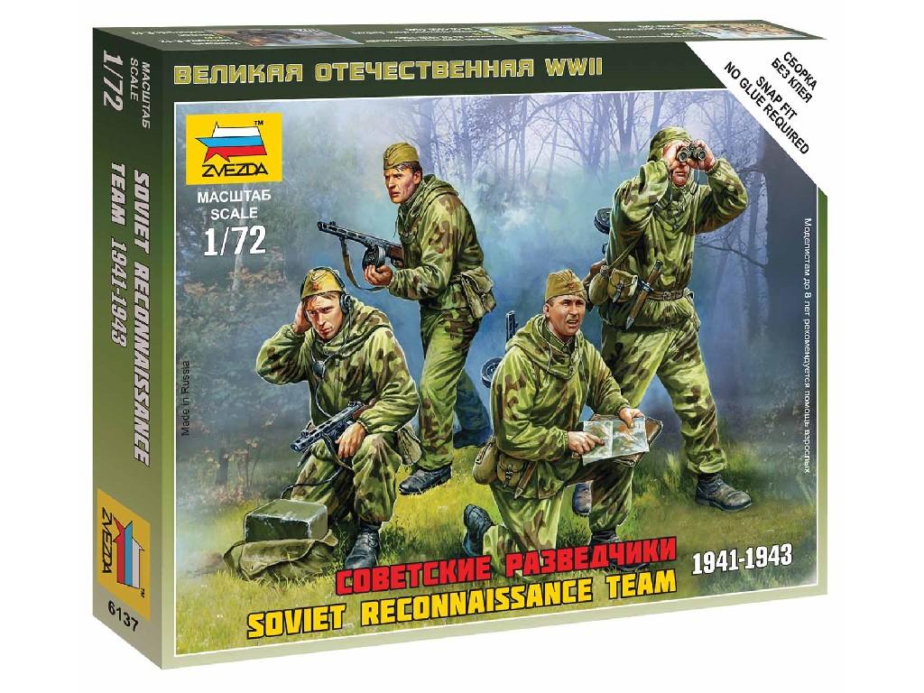 1/72 Wargames (WWII) figurky 6137 - Soviet Reconnaissance Team