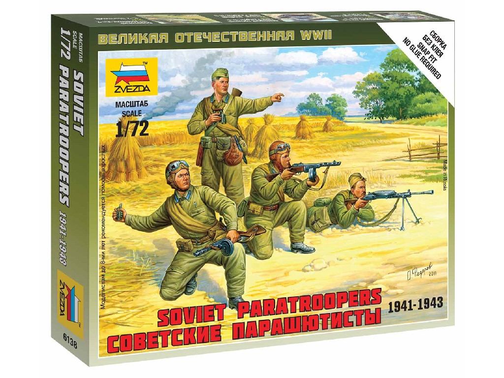 1/72 Wargames (WWII) figurky 6138 - Soviet Paratroops