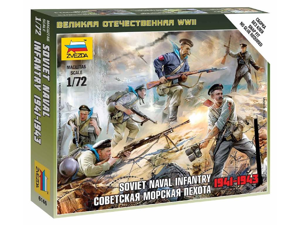 1/72 Wargames (WWII) figurky 6146 - Soviet Naval Infantry