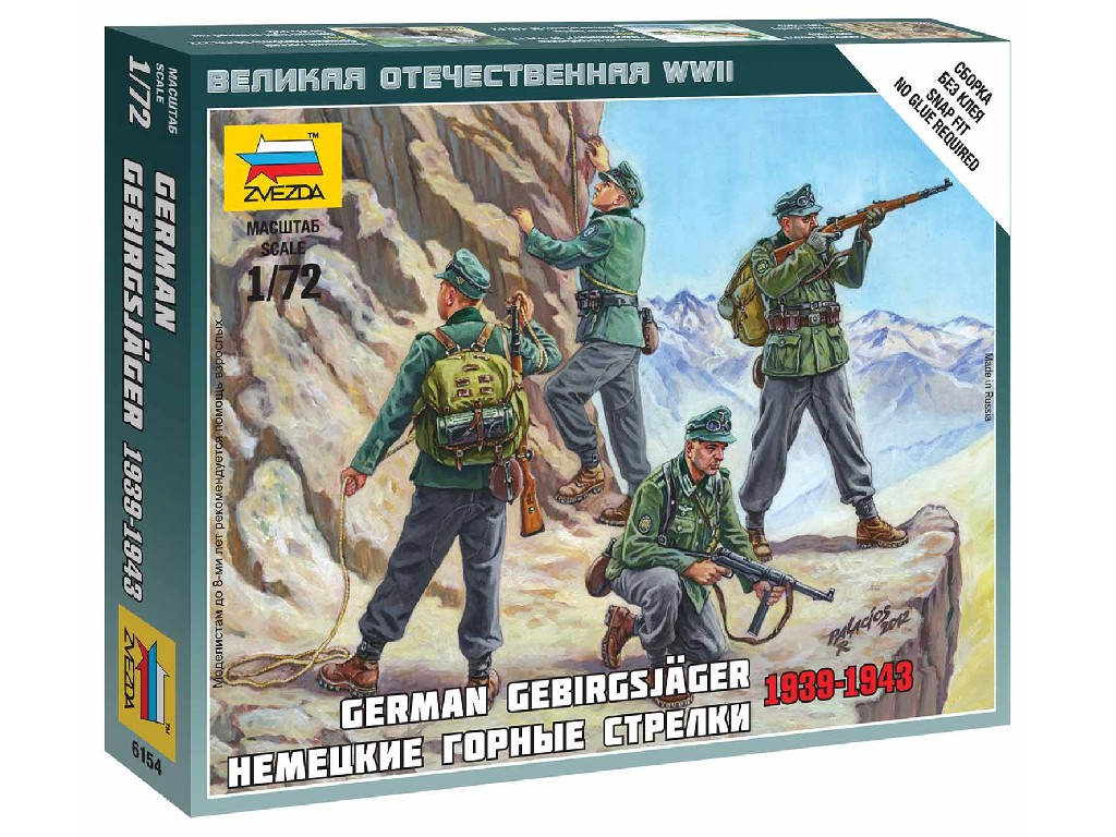1/72 Wargames (WWII) figurky 6154 - German Gebirgsjäger