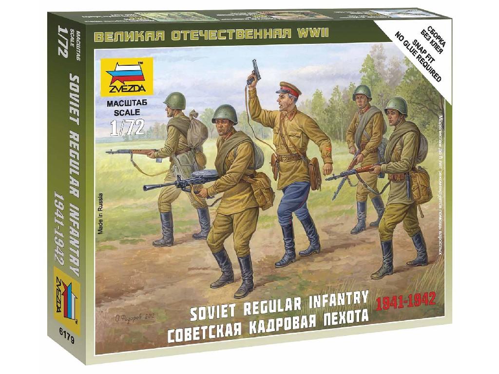 1/72 Wargames (WWII) figurky 6179 - Soviet Regular Infantry 1941-42