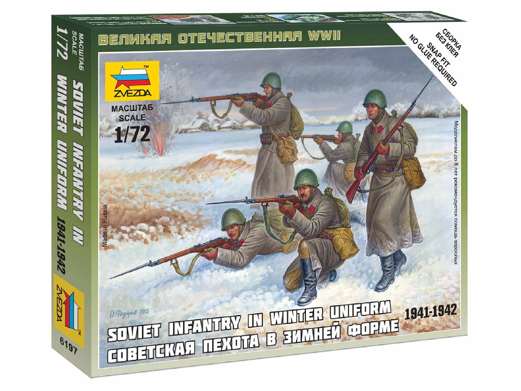 1/72 Wargames (WWII) figurky 6197 - Soviet Infantry (Winter Uniform)