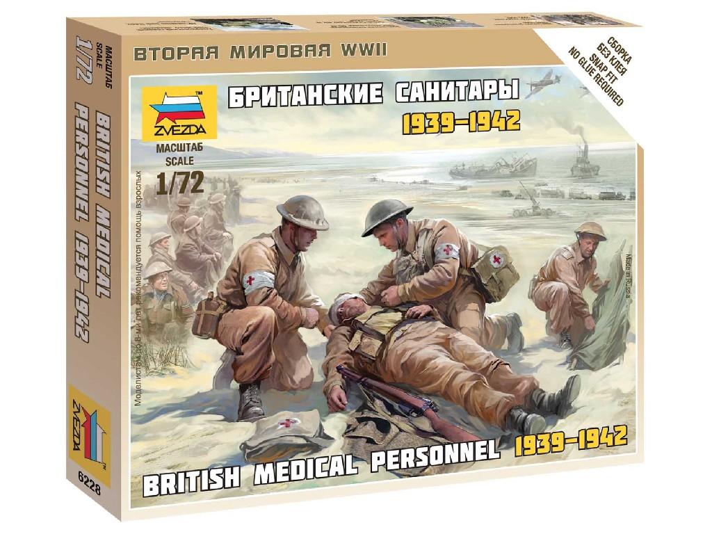 1/72 Wargames (WWII) figurky 6228 - British Medic Team
