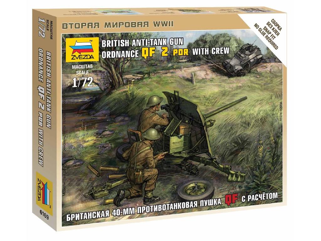 1/72 Wargames (WWII) military 6169 - British QF 2-pdr Anti Tank Gun w/crew
