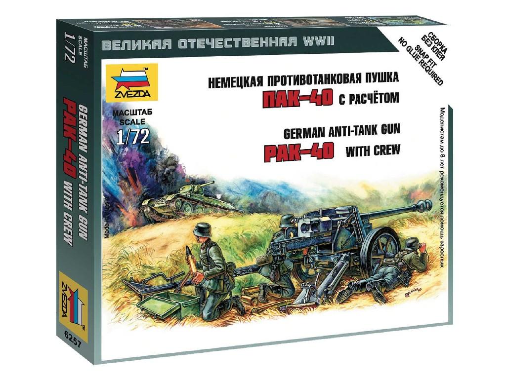 1/72 Wargames (WWII) military 6257 - Pak-40