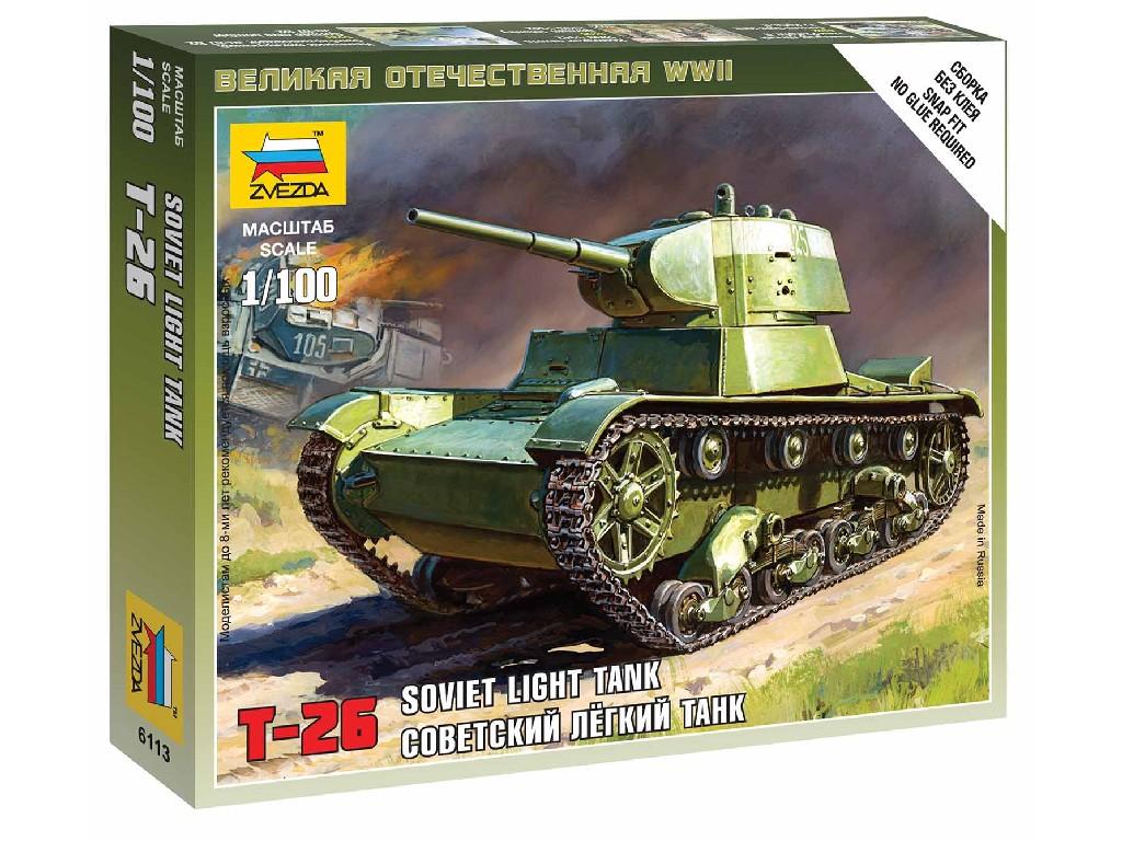 1/100 Wargames (WWII) tank 6113 - Soviet Tank T-26 M