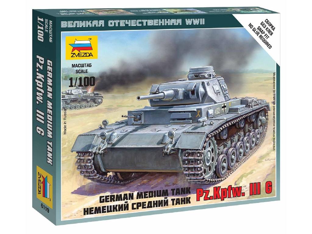 1/100 Wargames (WWII) tank 6119 - German Tank Panzer III