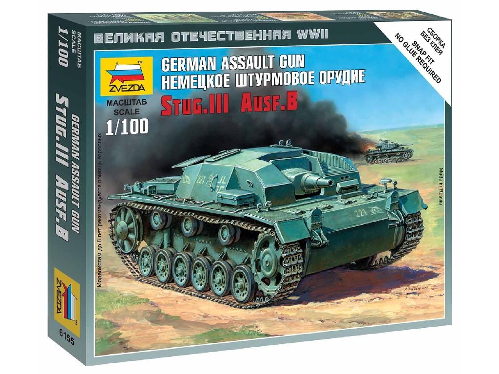 1/100 Wargames (WWII) tank 6155 - Sturmgeschütz III Ausf.B