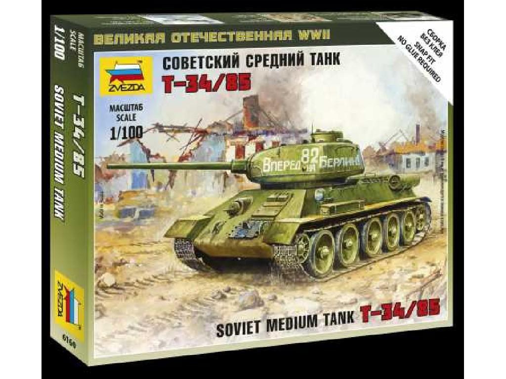 1/100 Wargames (WWII) tank 6160 - Soviet Medium Tank T-34/85