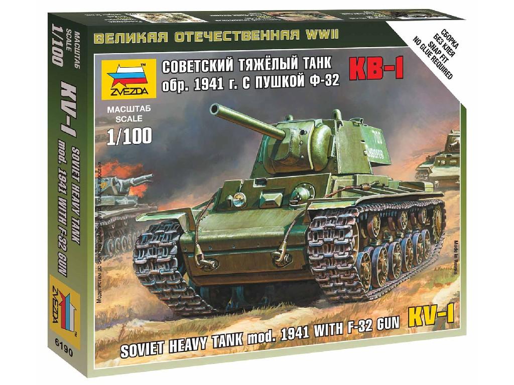 1/100 Wargames (WWII) tank 6190 - KV-1 with F-32 GUN