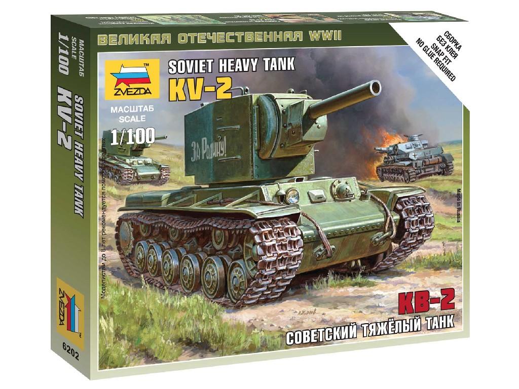 1/100 Wargames (WWII) tank 6202 - Soviet Tank KV-2